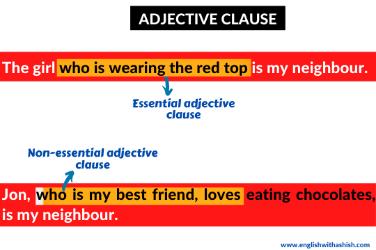 Adjective clause examples